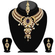 Kriaa Purple Stone Necklace Set With Maang Tikka - 2103103