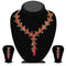 Soha Fashion Pink Kundan Stone Drop Necklace Set