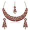 Kriaa Gold Plated Austrian Stone Necklace Set With Maang Tikka - 1105303