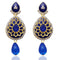 The99Jewel Austrian Stone Blue Gold Plated Dangler Earrings