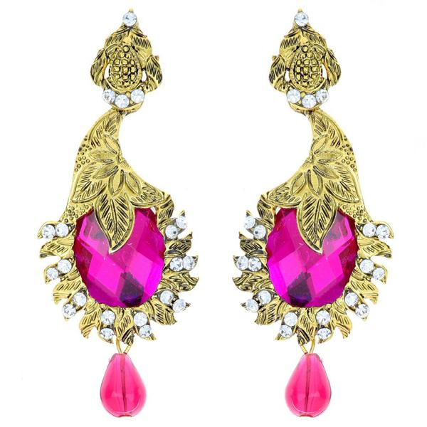 The99Jewel Austrian Stone Drop Gold Plated Dangler Earring