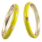 Kriaa Yellow Enamel Gold Plated set of 2 Bangles