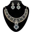 Kriaa Blue Austrian Stone Necklace Set - 2100501