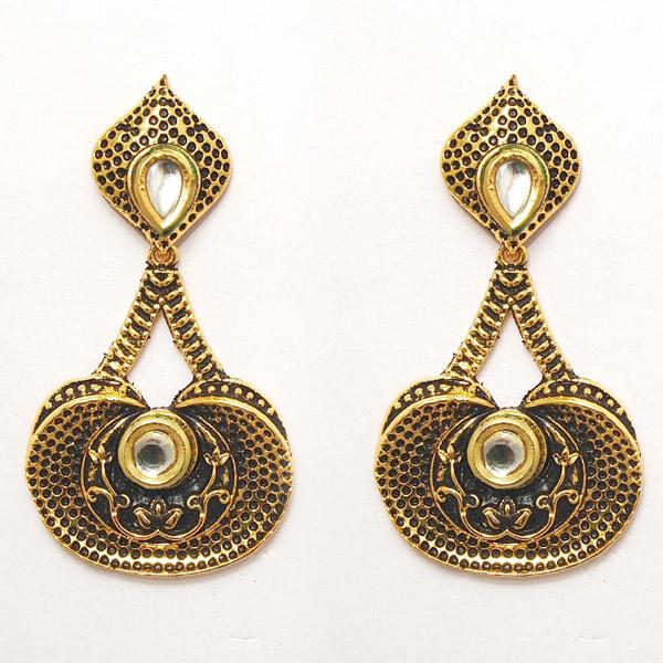 The99jewel Austrian Stone Gold plated Dangler Earrings - 1307218