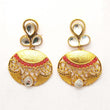 Kriaa Austrian Stone Gold Plated Dangler Earring - 1307219