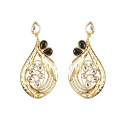Kriaa Gold Plated Stone And kundan Dangler Earring - 1307323