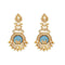 Kriaa Resin Kundan Gold Plated Dangler Earring -1307347A