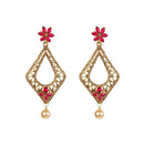 Kriaa Kundan And Stone Gold Plated Dangler Earring