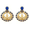 Kriaa Stone Pearl Gold Plated Dangler Earring