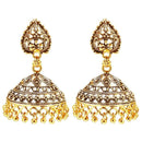 Kriaa Antique Gold Plated Jhumki Earrings