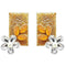 Kriaa  Gold Plated Resin Stone Floral Dangler Earring - 1311405C