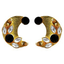 Kriaa Resin Stone Gold Plated Stud Earring - 1311406B