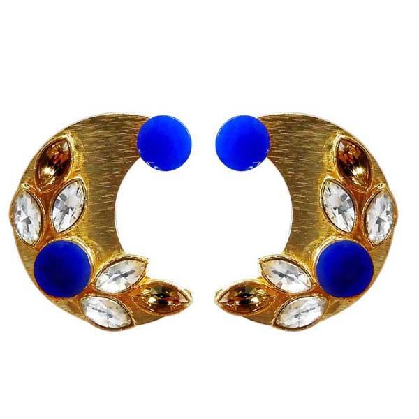 Kriaa Resin Stone Gold Plated Stud Earring - 1311406D