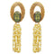 Kriaa Resin Stone Gold Plated Dangler Earrings - 1311411D