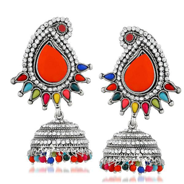 Kriaa Multi Pota And Austrian Stone Jhumki Earrings - 1311506D