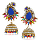 Kriaa Multi Pota And Austrian Stone Jhumki Earrings - 1311507H