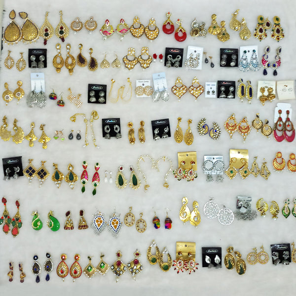 Pack of 100 earrings starter pack for Wholesaler at just Rs.5000/-