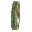 Urthn Green Stone Set Of 4 Bangle Sets
