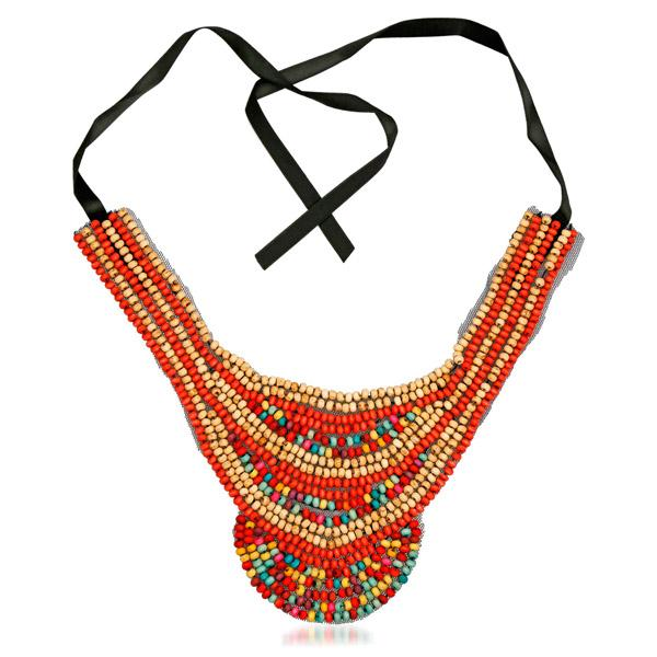 Urthn Multicolor Beads Lace Necklace