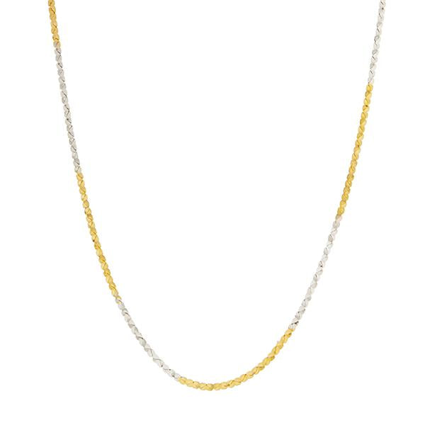 Urthn 2 Tone Plated Chain Necklace For Mens - 1204103