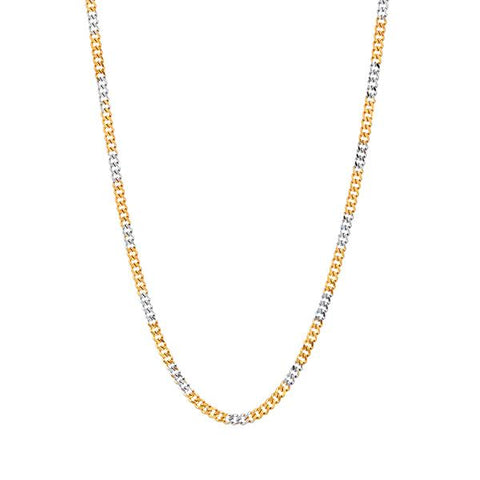 Urthn 2 Tone Plated Chain Necklace For Mens - 1204104