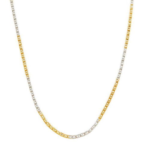 Urthn 2 Tone Plated Chain Necklace For Mens - 1204105