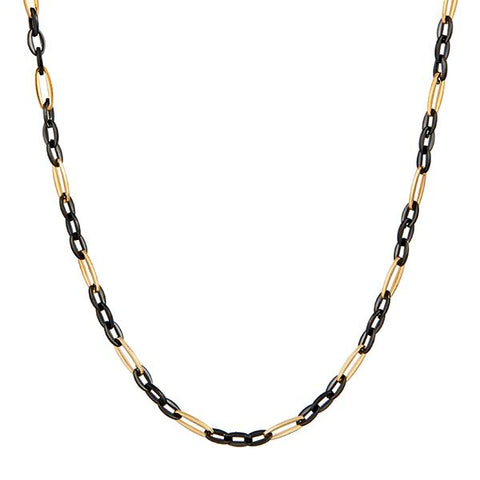 Urthn 2 Tone Plated Chain Necklace For Mens - 1204109