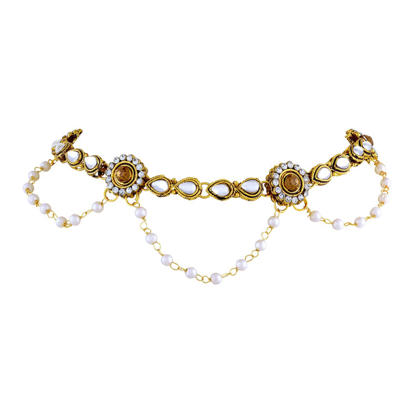 Asmitta Charming Traditional Gold toned Anklet For Women - AN102JRGLDSJ0