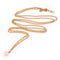 I Jewels Traditional Gold Plated Chain Kamarband with Single Pearl for Women (B025)