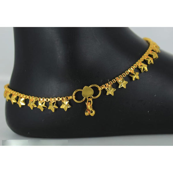 Mahavir Gold Plated Payal - DK B-12 PAYAL