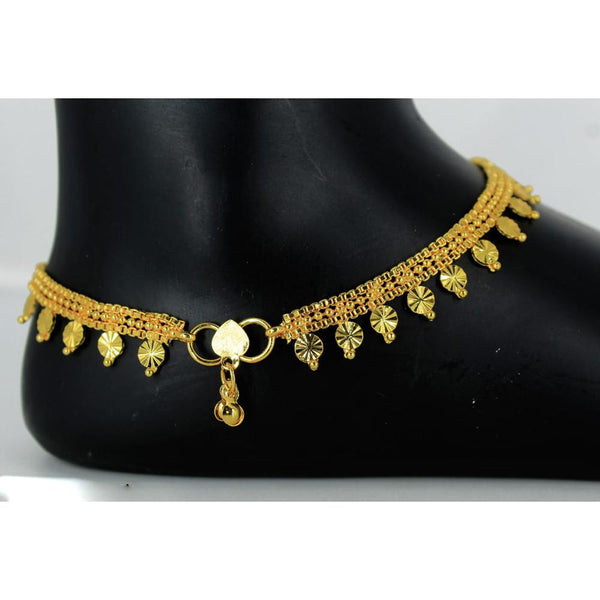 Mahavir Gold Plated Payal - DK B-13 PAYAL