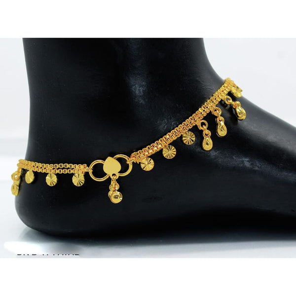 Mahavir Gold Plated Payal - DK B-17 PAYAL