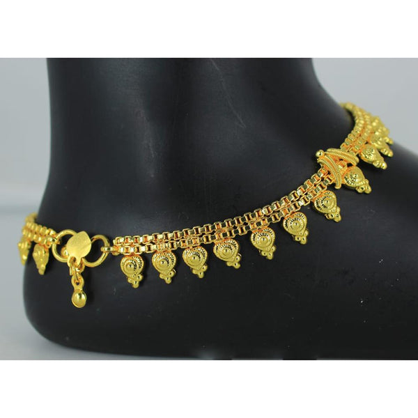 Mahavir Gold Plated Payal - DK B-7 PAYAL