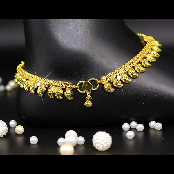 Mahavir Gold Plated Payal - DK B-9 PAYAL