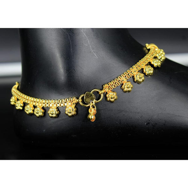 Mahavir Gold Plated Payal - DK B -8 PAYAL
