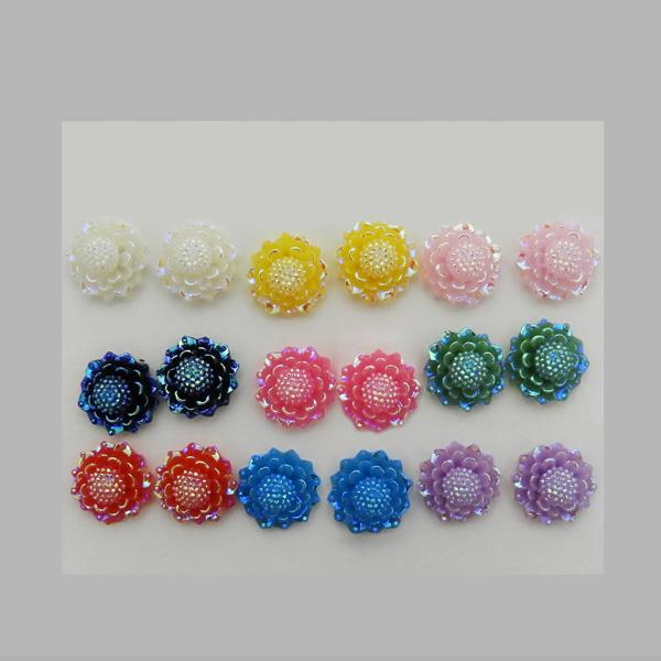14Fashions Multicolor 9 Pair of Stud Earrings Sets - 1309202
