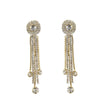 Tip Top Fashions Austrian Stone Gold Plated Dangler Earrings - 1303308