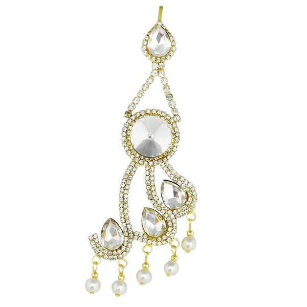 Eugenia Gold Plated White Austrian Stone Pasa
