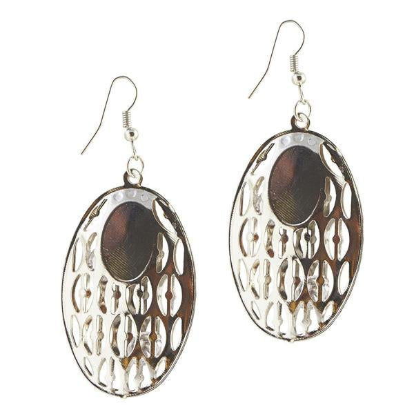 The99Jewel Stone Rhodium Plated Dangler Earring - 1306435