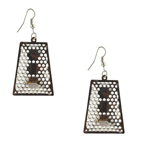 The99Jewel Stone Rhodium Plated Dangler Earring - 1306445