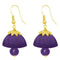 The99jewel Purple Pearl Drop Gold Plated Thread Jhumki