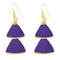 The99jewel Purple Gold Plated Double Jhumki Thread Earring - 1309016D