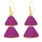 The99jewel Pink Gold Plated Double Jhumki Thread Earring - 1309016I