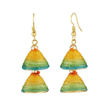 Tip Top Fashions Multicolor Gold Plated Thread Earrings - 1309016O