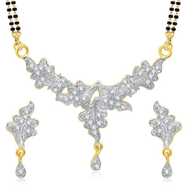 Morini Gold Plated American Diamond Mangalsutra Set - 1500610