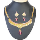 The99Jewel Pink Pearl Gold Plated Necklace Set