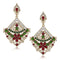The99Jewel Green Stone Kundan Dangler Earrings