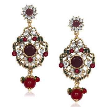 The99Jewel Kundan Stone Dangler Earring - 1305507