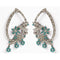 Soha Fashion Austrian Stone Silver Plated Dangler Earrings