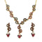 The99Jewel Red Meenakari Stone Floral Design Necklace Set